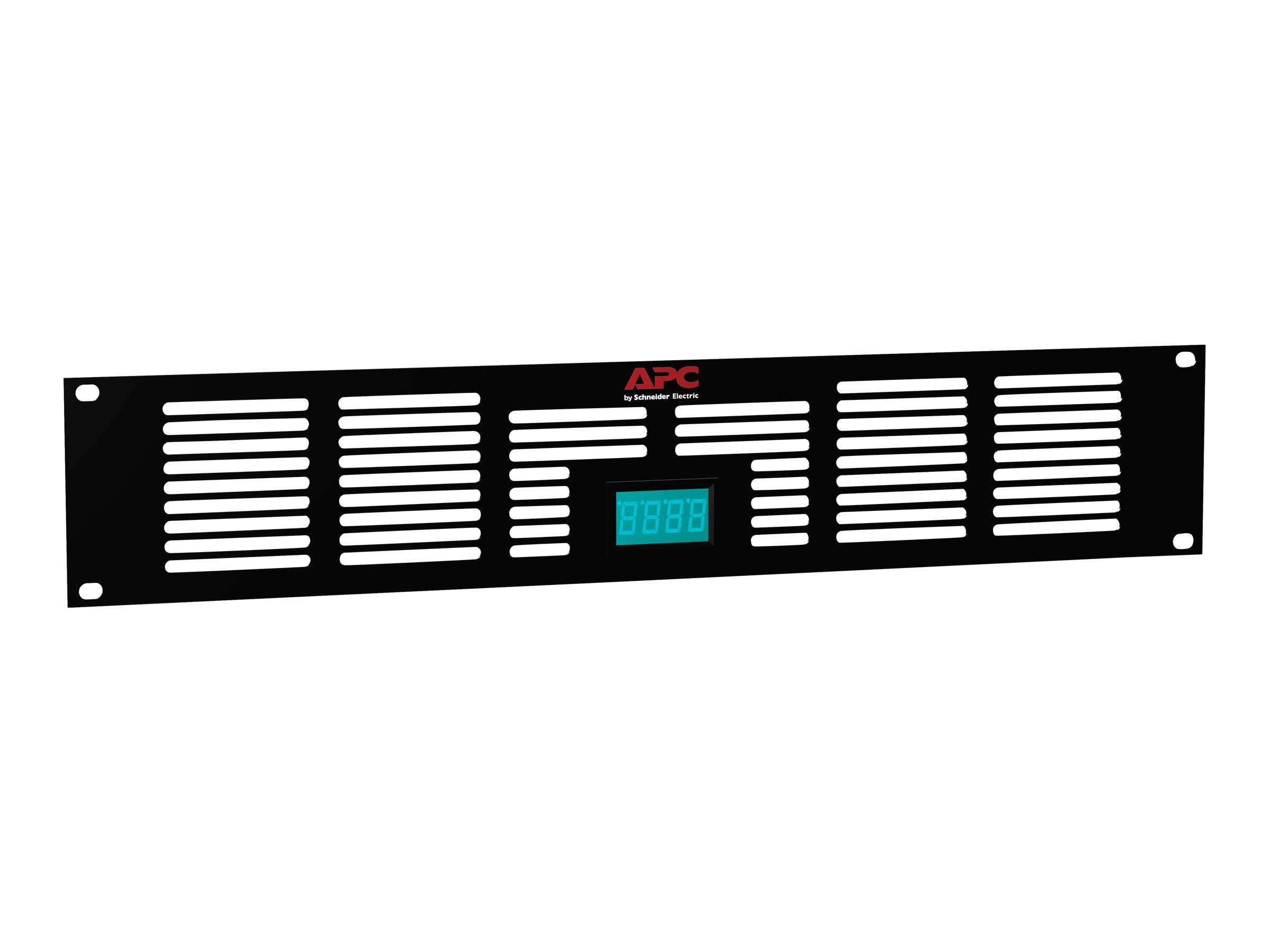 APC NetShelter AV 2U Vent Panel with Temperature Display, ACAC40000