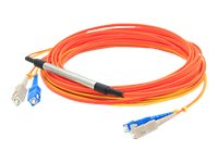 ACP-EP 2x SC 62.5 125 to SC 62.5 125 and SC 9 125 Duplex LSZH Mode Conditioning Cable, Orange, 1m, CAB-GELX-625-1M-AO