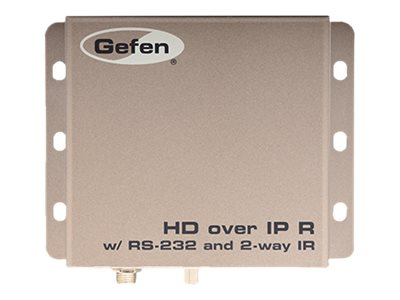 Gefen HD over IP w  RS-232 & 2-way IR, EXT-HD2IRS-LAN-RX