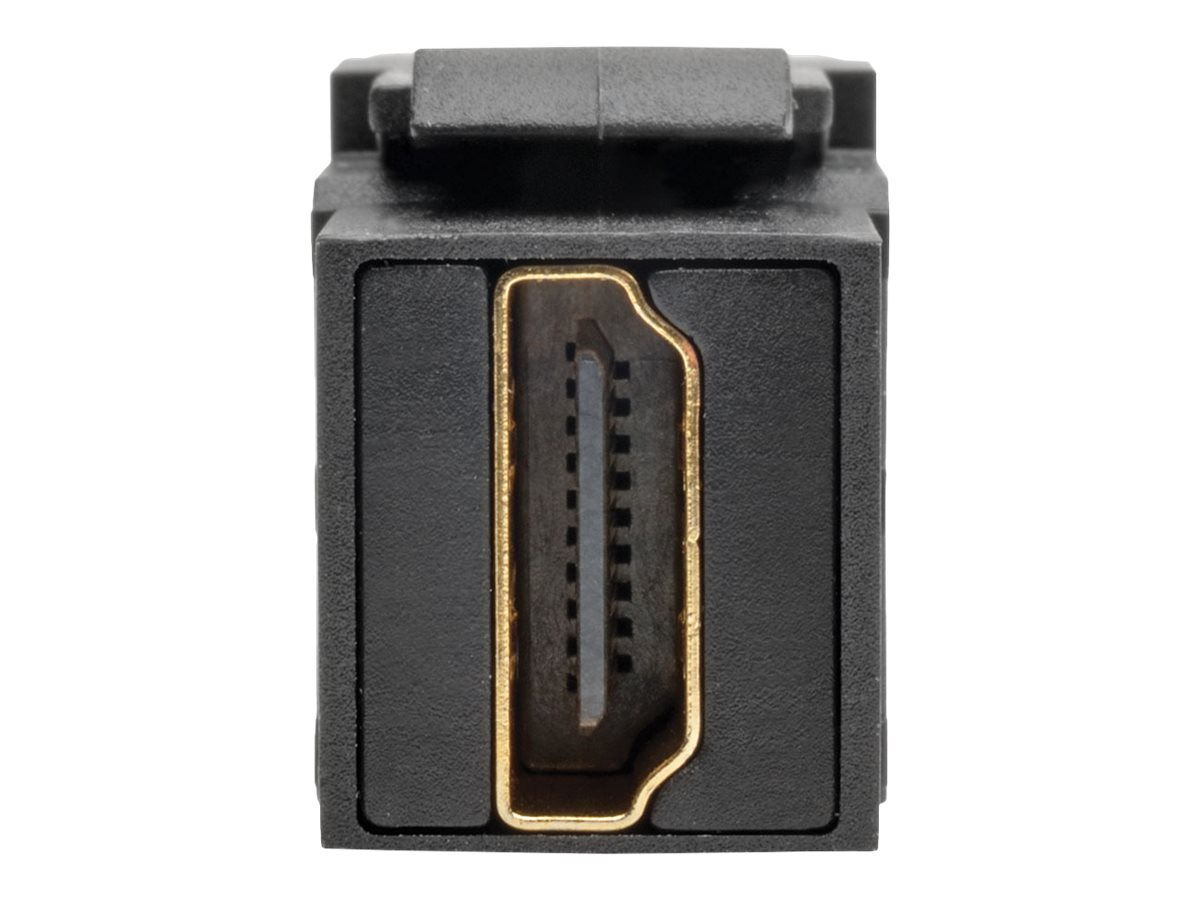 Tripp Lite HDMI All-in-One Keystone Panel Mount Angled Coupler, Black