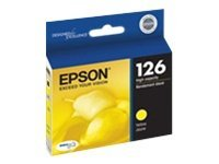 Epson Yellow 126 High-Capacity Ink Cartridge, T126420, 11888674, Ink Cartridges & Ink Refill Kits
