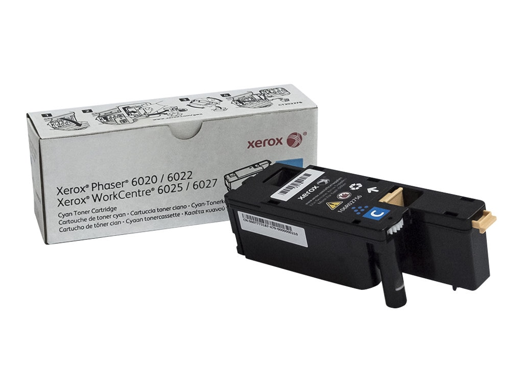 Xerox Cyan Toner Cartridge for Phaser 6022 & WorkCentre 6027, 106R02756