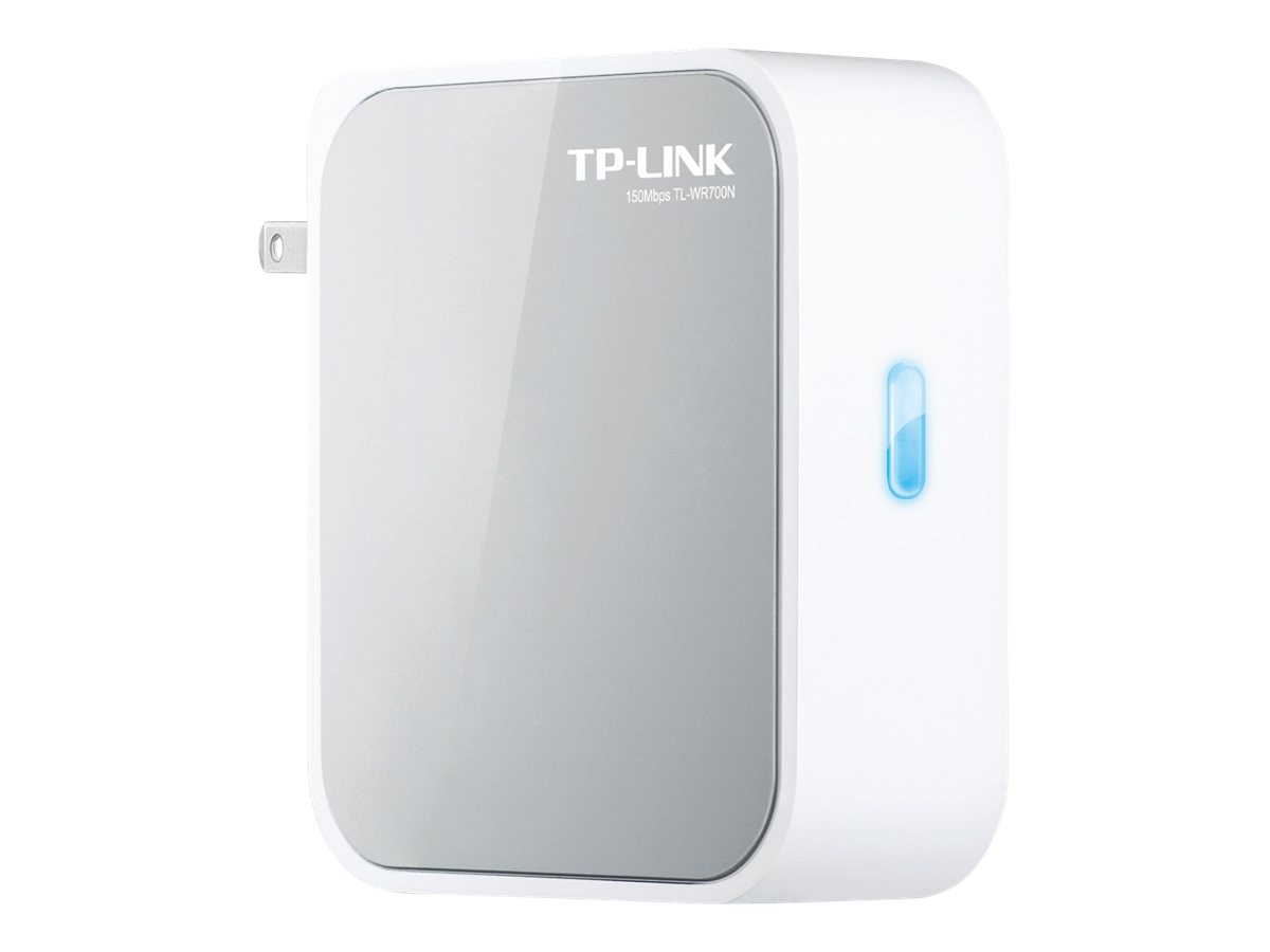 TP-LINK Wireless N150 Portable Router, Pocket Design, Router AP Client Bridge Repeater Modes, 150Mpbs, TL-WR700N, 14483306, Wireless Routers