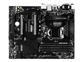 Microstar Motherboard, C236A Workstation E3-1200 v5 Family Max.64GB DDR4 6xSATA 6xPCIe GbE, C236A WORKSTATION, 32424220, Motherboards