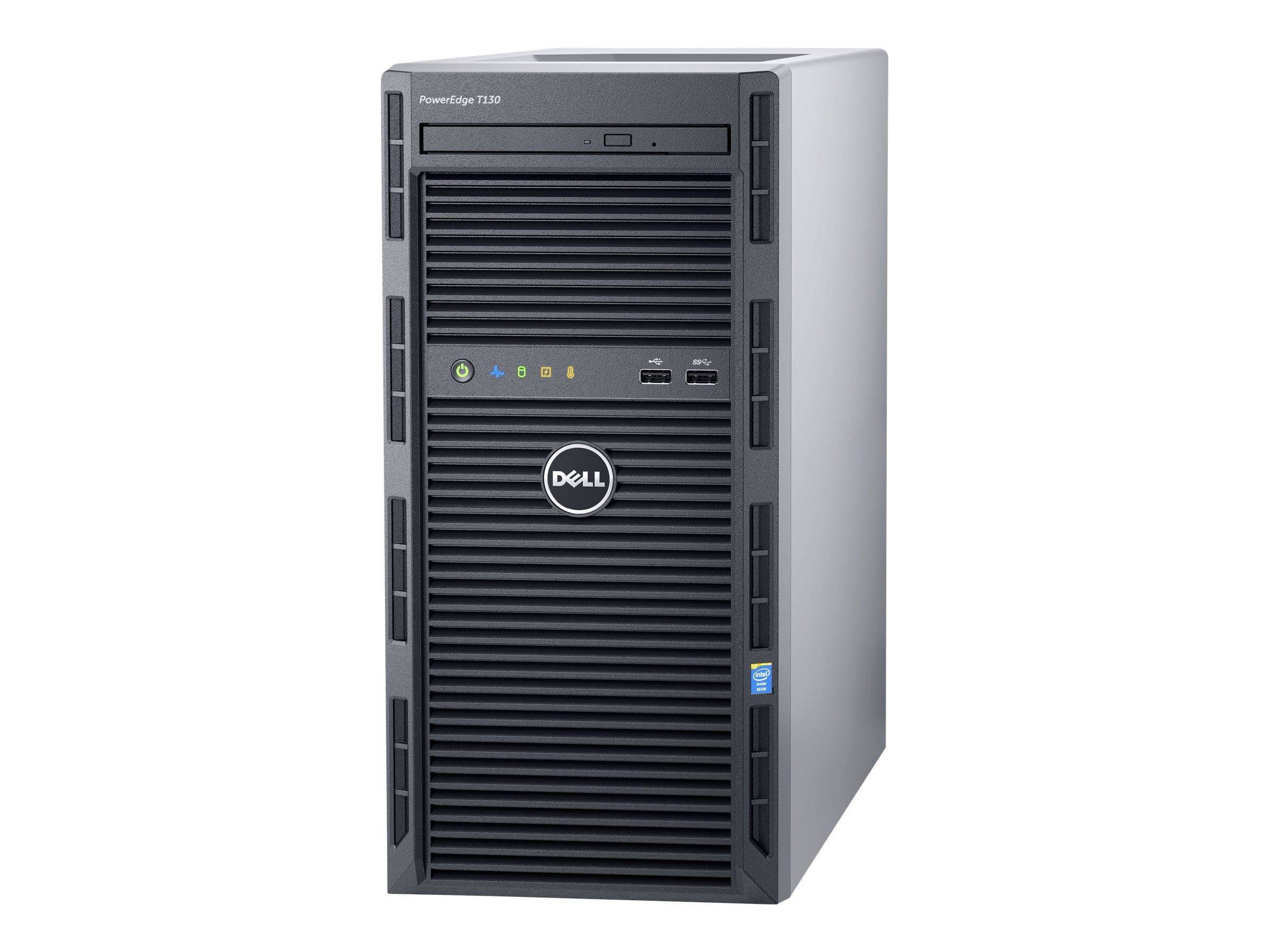 Dell PowerEdge T130 Tower Xeon QC E3-1240 v5 3.5GHz 8GB 1x1TB SATA 4x3.5 DC Bays H330 DVD 2xGbE