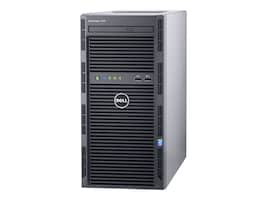 Dell PowerEdge T130 Tower Xeon QC E3-1240 v5 3.5GHz 8GB 1x1TB SATA 4x3.5 DC Bays H330 DVD 2xGbE, 463-7652, 32052921, Servers