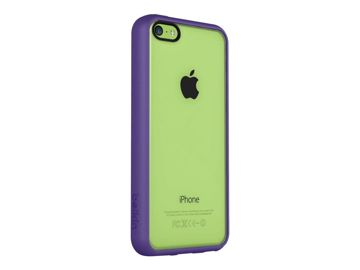 Belkin View Case for iPhone 5C, Purple Light Green, F8W372BTC02, 16282241, Carrying Cases - Phones/PDAs
