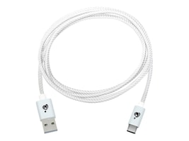 IOGEAR Charge and Sync Flip Pro USB Type C (USB-C) to Reversible USB Type A Cable, White, 2m, G2LU3CAM02-WT, 31911958, Cables