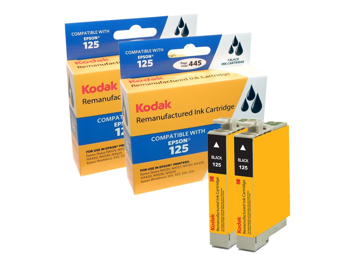 Kodak T125120-D2 Black Ink Cartridge Combo Pack for Epson Stylus, T125120-D2-KD
