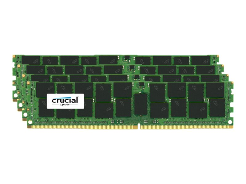 Crucial 64GB PC4-17000 288-pin DDR4 SDRAM RDIMM Kit, CT4K16G4RFD4213, 17854512, Memory
