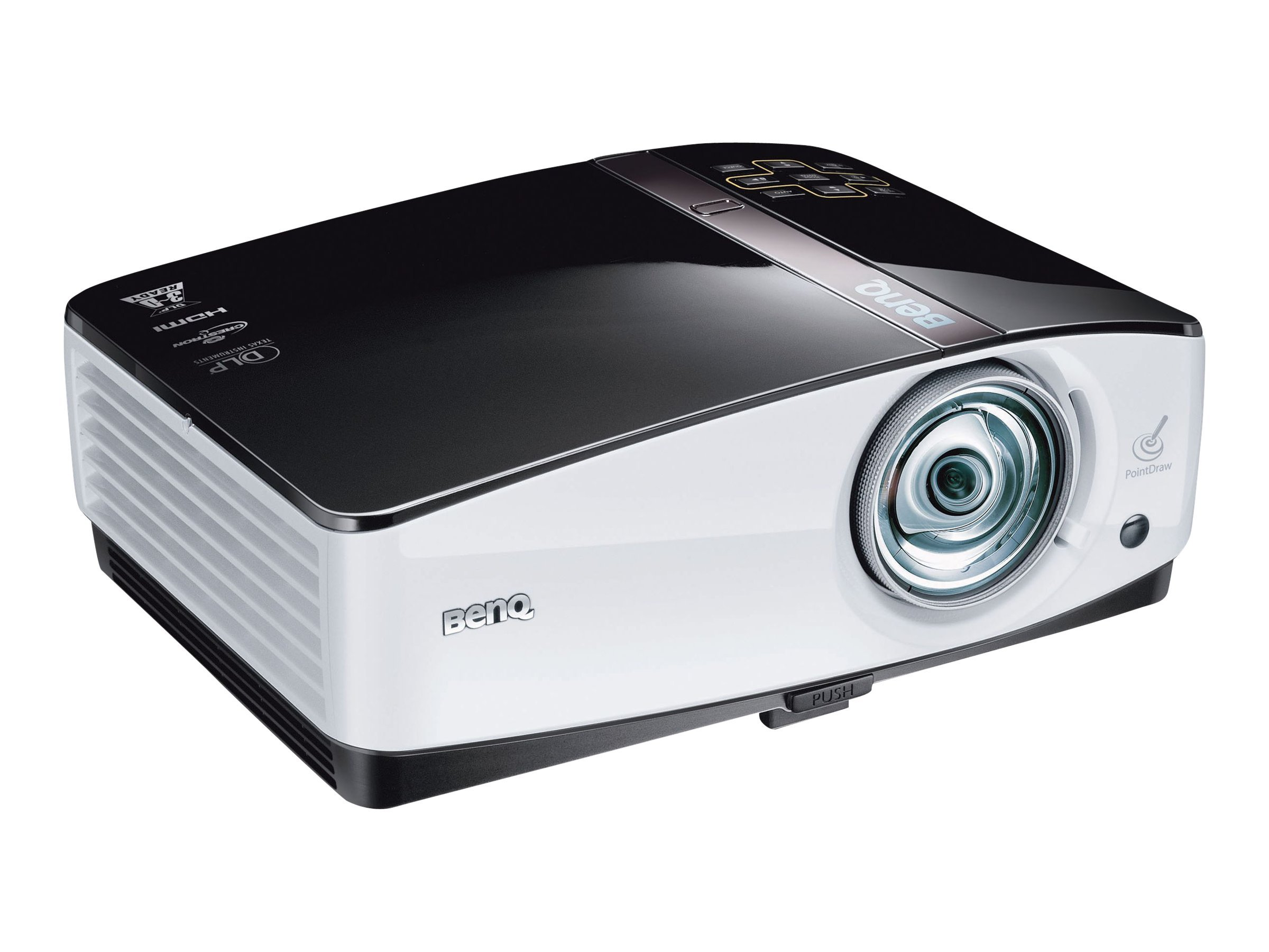 Benq MP780ST+ WXGA DLP Projector with Speakers, 2500 Lumen, MP780ST+, 14404436, Projectors