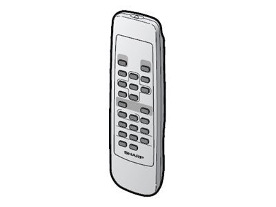 Sharp Wireless Remote Control for PG-A20, PG-B10 Projectors, RRMCGA187WJSA, 9134224, Remote Controls - Presentation