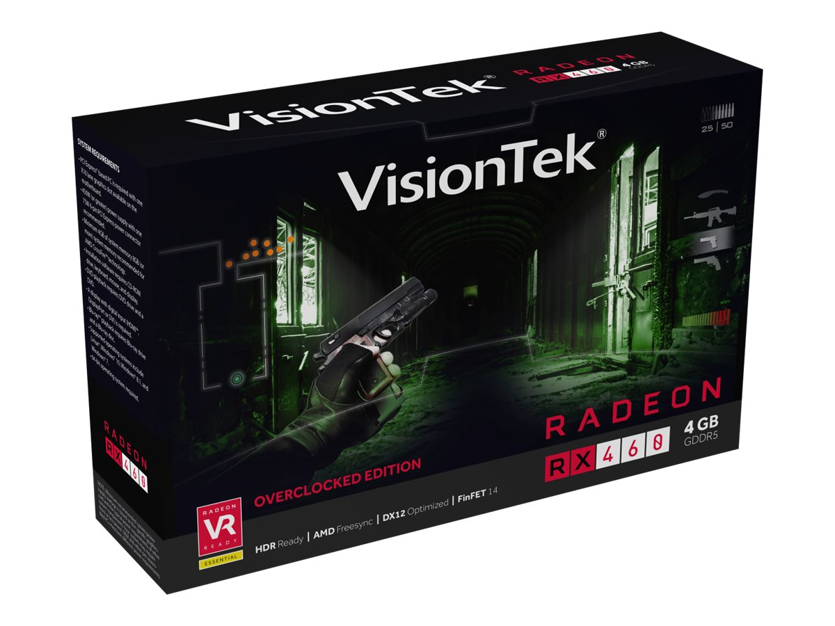 VisionTek Radeon RX 460 PCIe 3.0 x16 Overclocked Graphics Card, 4GB GDDR5