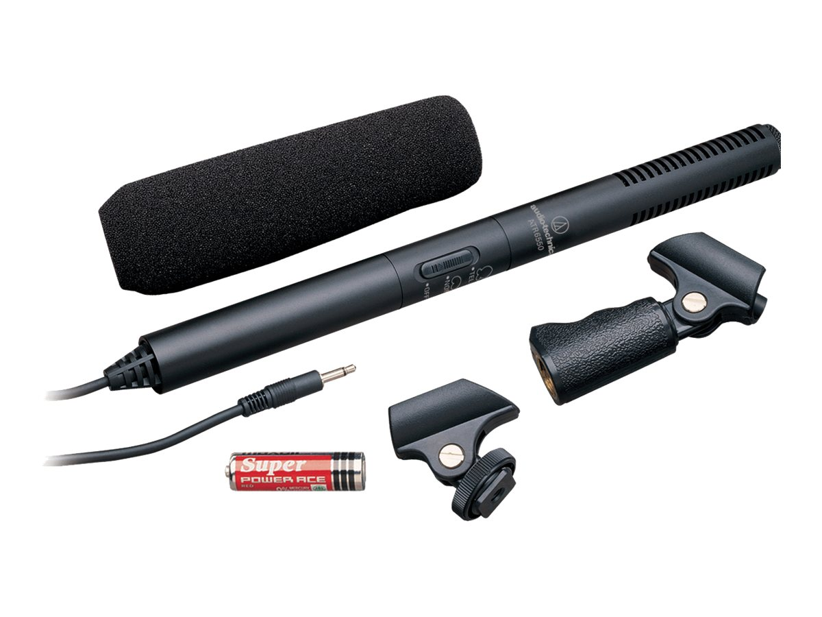 Audio-Technica Audio Video Camera Condenser Microphone, ATR-6550, 11212762, Microphones & Accessories