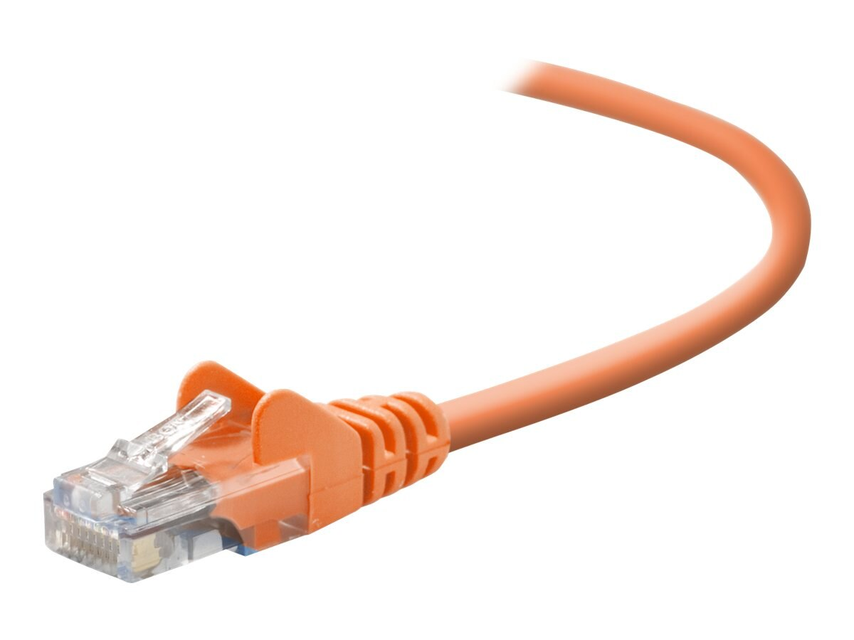 Belkin Cat5e Patch Cable, Orange, 25ft, Snagless