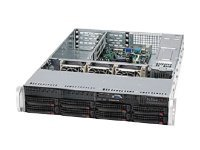 Supermicro Barbone, 2U RM Chassis, DP 5520, Max 288GB DDR3, 8xSATA, 920W RPS, SYS-6026T-URF4+, 11262583, Barebones Systems