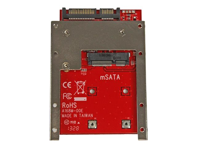 StarTech.com mSATA Solid State Drive to 7mm High 2.5 SATA 6Gb s Open Bracket Solid State Drive Adapter, SAT32MSAT257