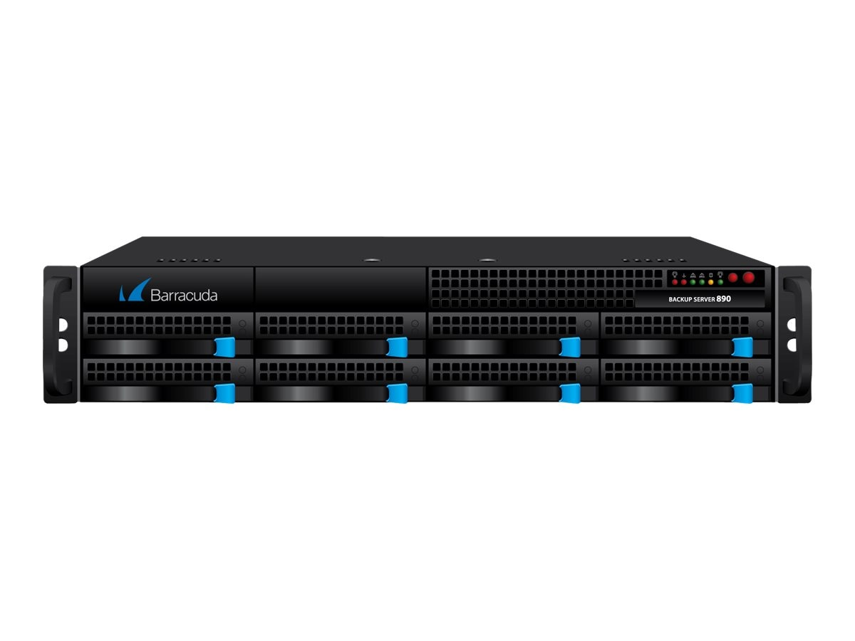 Barracuda Backup Server Model 890 w  5-year Energize Updates, BBS890A5, 12838003, Disk-Based Backup