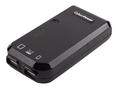 CyberPower USB Battery Pack, 5200mAh 5V 2.1A, Attached USB Connector, LED Flashlight