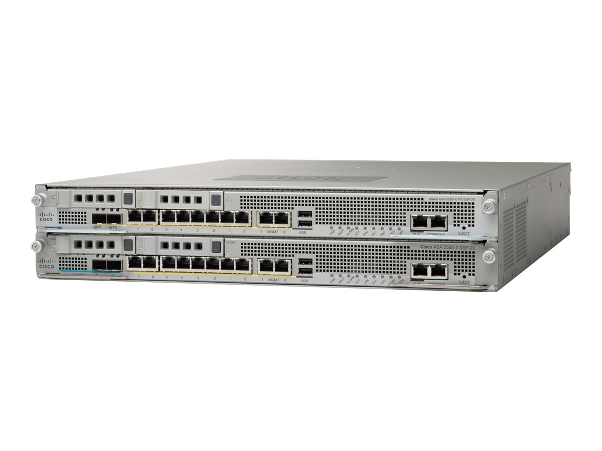 Cisco ASA 5585-X Chassis SSP10 IPS-SSP10 16GE 4GE Management 1 AC, ASA5585-S10P10-K9, 12559784, Network Security Appliances