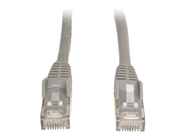 Tripp Lite Cat6 UTP Gigabit Ethernet Patch Cable, Gray, Snagless, Plenum, 100ft, N201-100-GY-P, 8152480, Cables