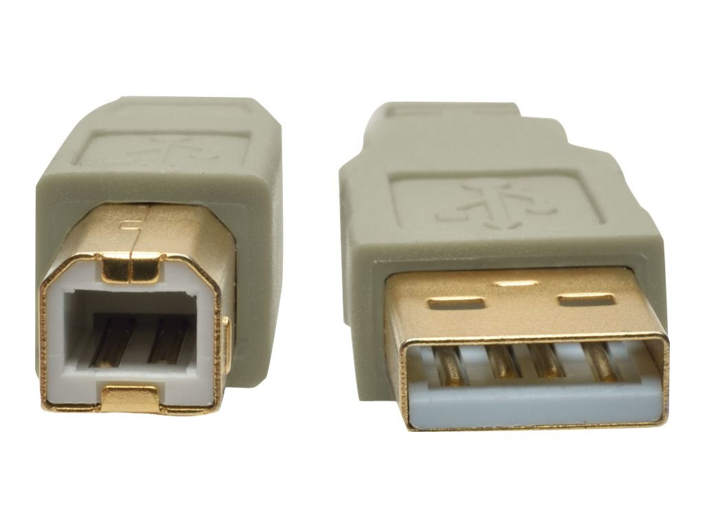 Tripp Lite USB 2.0 Hi-Speed Type A to Type B M M Cable, Beige, 15ft, U022-015-BE