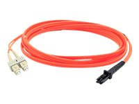 ACP-EP MT-RJ to SC 62.5 125 OM1 Multimode Duplex Fiber Cable, Orange, 3m