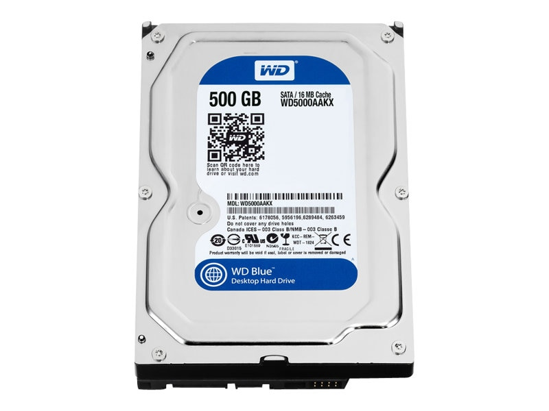WD 500GB WD Caviar Blue SATA 6Gb s 3.5 Internal Hard Drive - 16MB Cache, WD5000AAKX