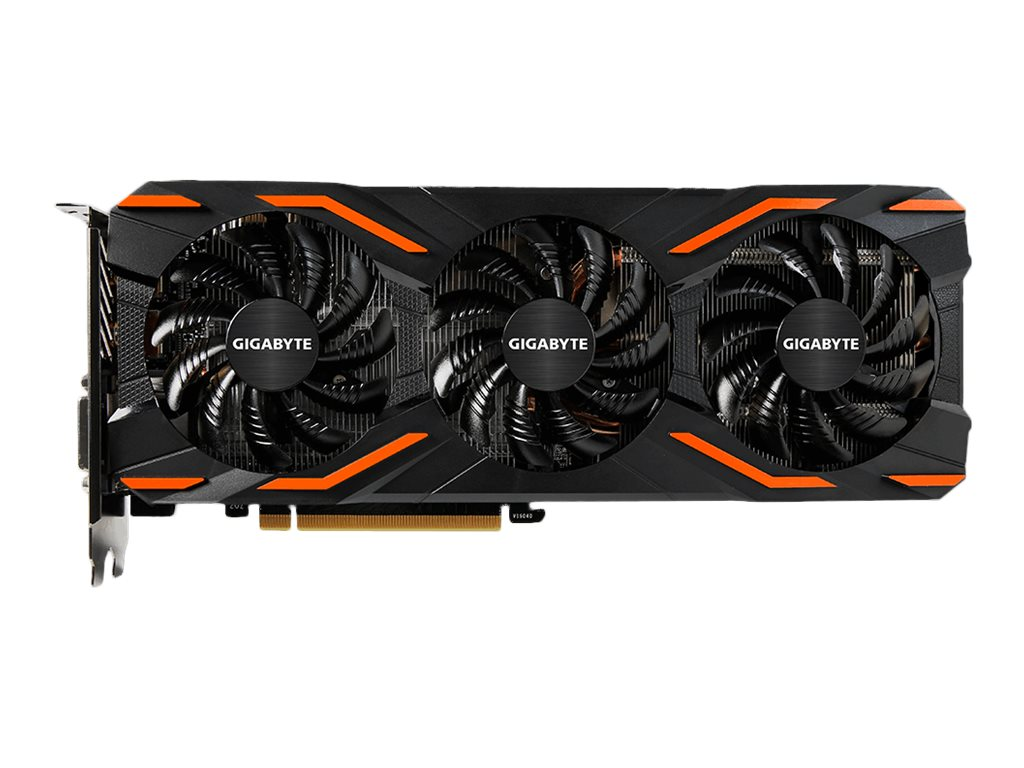 Gigabyte Tech Geforce GTX 1080 PCIe 3.0 x16 WindForce Overclocked Graphics Card, 8GB GDDR5X, GV-N1080WF3OC-8GD