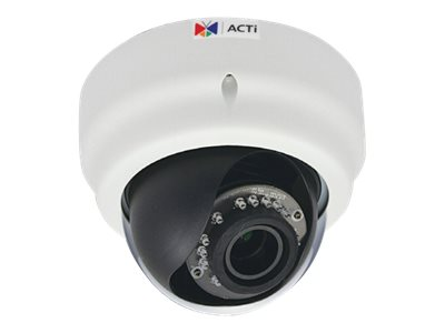 Acti 3MP Indoor Dome with D N, Adaptive IR, Superior WDR, Vari-focal Lens, E65A