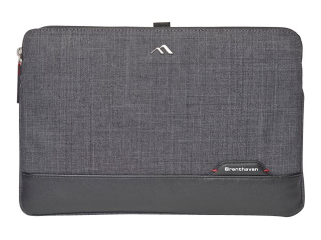 Brenthaven Collins Custom-Fit Sleeve for Laptops 13, Graphite, 1961