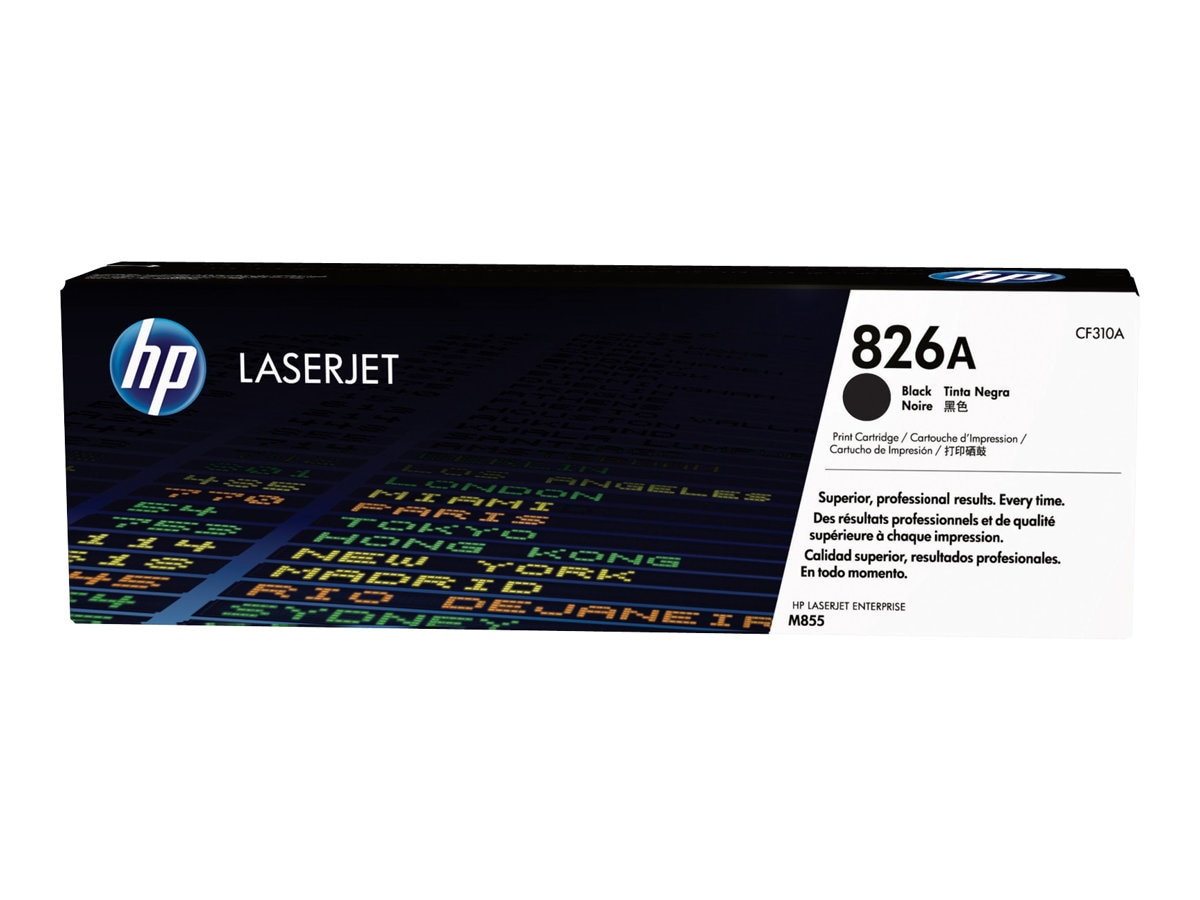 HP 826A (CF310A) Black Original LaserJet Toner Cartridge for HP Color LaserJet Enterprise M855 Series