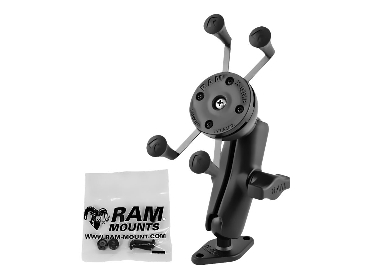 Ram Mounts 1 Ball Mount with Diamond Base and Universal X-Grip Cell iPhone Cradle, RAM-B-102-UN7U, 31024857, Mounting Hardware - Miscellaneous