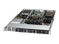 Supermicro SuperServer Barebones 1U RM Xeon E5-2600 Family Max.256GB DDR3 6x2.5 HS Bays 2xPCIe GNIC 1400W, SYS-1017GR-TF-FM109, 14764976, Servers