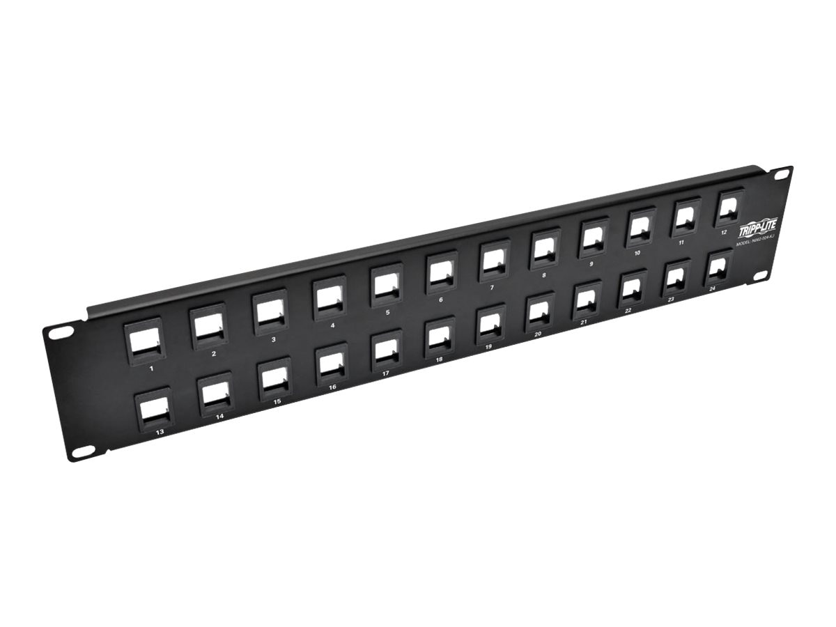 Tripp Lite 24-Port 1U RM Shielded Blank Keystone Multimedia Patch Panel w RJ45, USB, HDMI, Cat5e 6