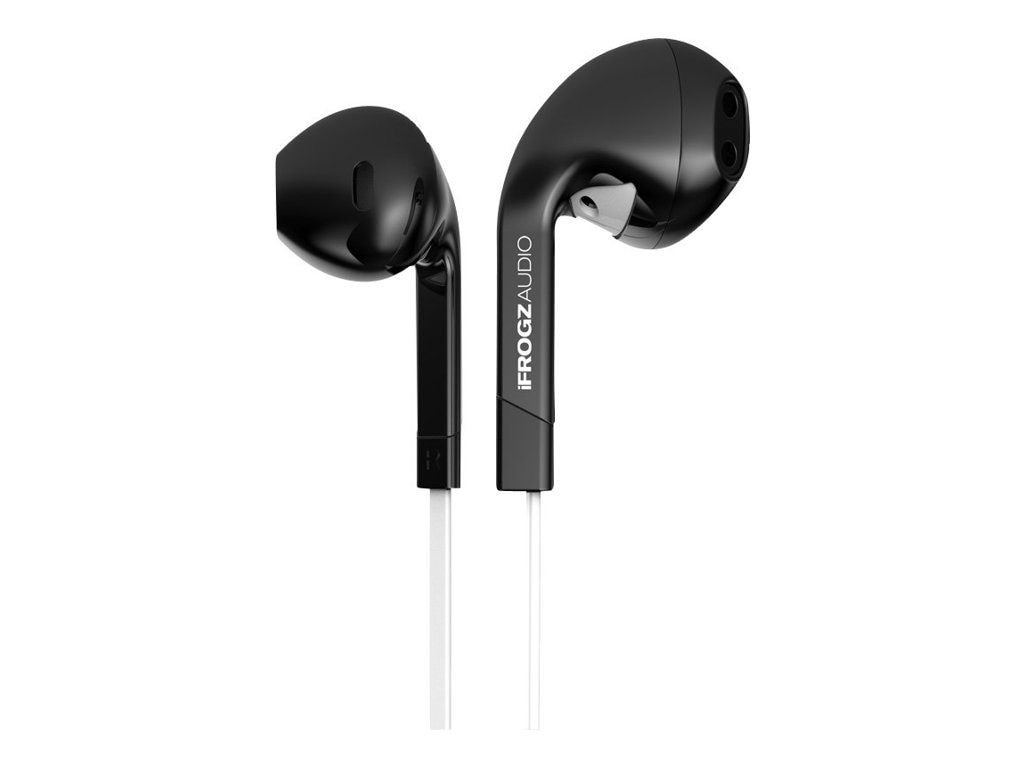 Ifrogz Intone Earbud w  Mic  - Black, IF-ITN-BLK, 16723537, Headsets (w/ microphone)