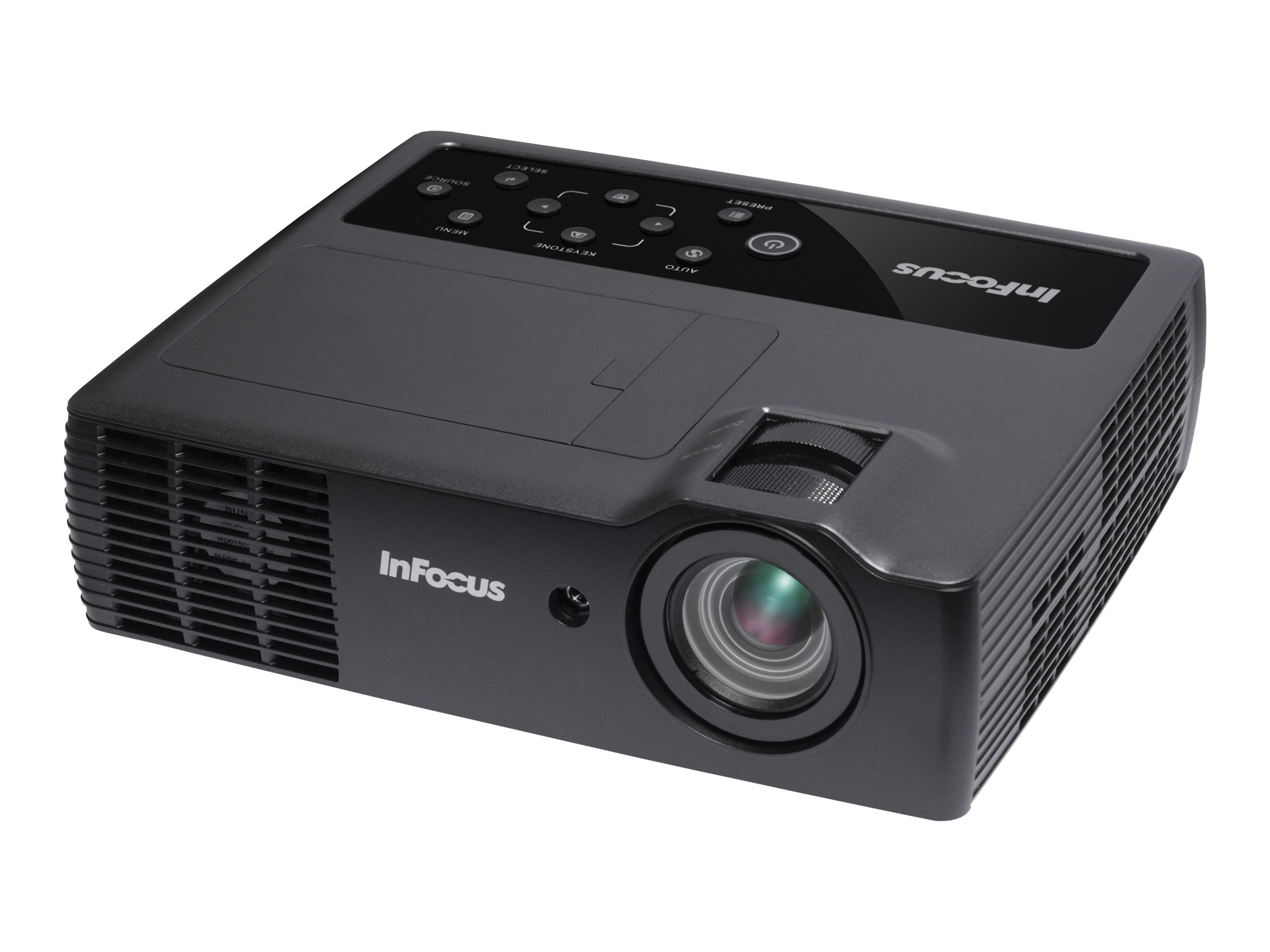 InFocus IN1118LC DLP Mobile Projector, 2200 Lumens, Black, IN1118LC, 28347882, Projectors