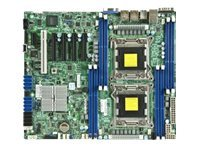 Supermicro Motherboard, E5-2600, C602, SAS, IPMI RETAIL PACK, MBD-X9DRL-3F-O, 13763461, Motherboards