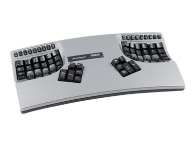 Kinesis Advantage2 Keyboard w  Painted Silver Gloss Finish