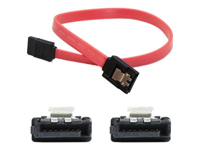ACP-EP Latching SATA to SATA F F Cable, Red, 18