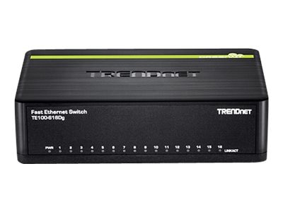 TRENDnet 16 Port 10 100Mbps GreenNet Switch, TE100-S16DG
