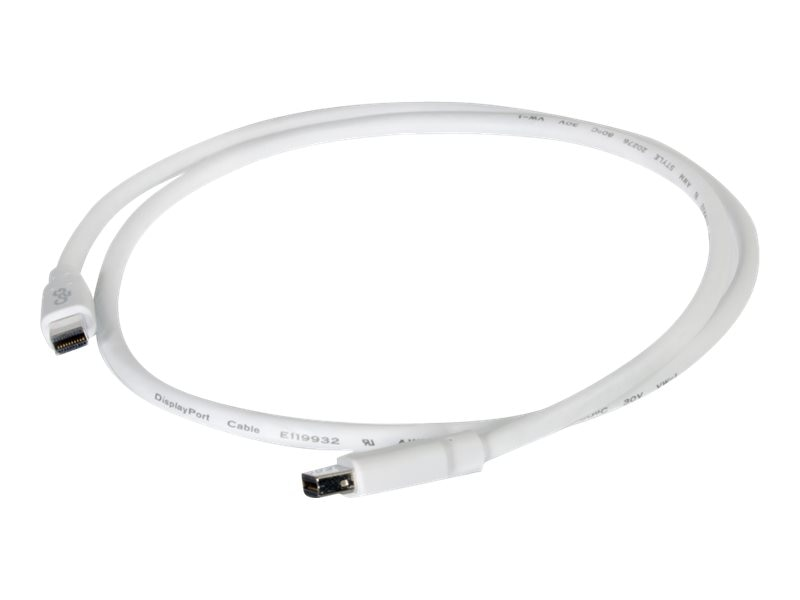C2G Mini DisplayPort M M Cable, White, 6ft