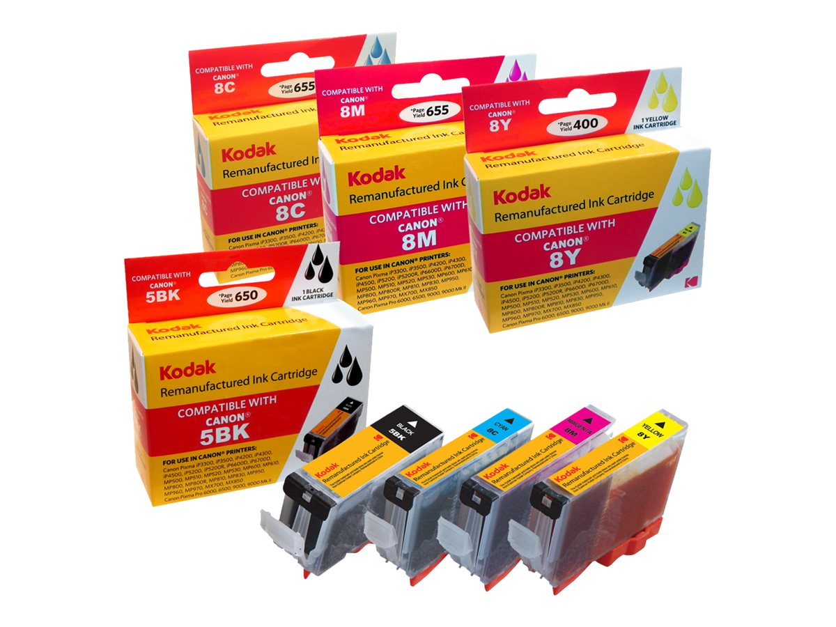 Kodak 0628B027 Ink Cartridge Combo Pack for Canon PIXMA iP4200, 0628B027-KD