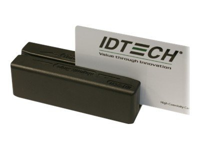 ID Tech MiniMag Duo, USB Keyboard Emulation, MSR, Tracks 1, 2 and 3, Black, IDMB-354133B