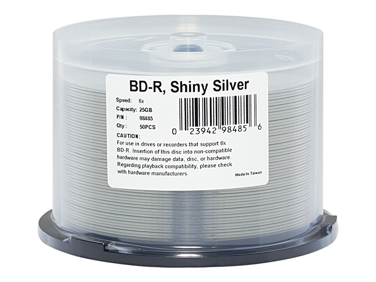Verbatim 6x 25GB Silver BD-R Media (50-pack Spindle)