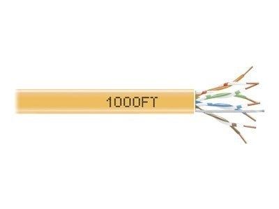 Black Box Cat6 GigaTrue 550 Solid Bulk Cable, PVC, 550MHz, Orange, 1000ft