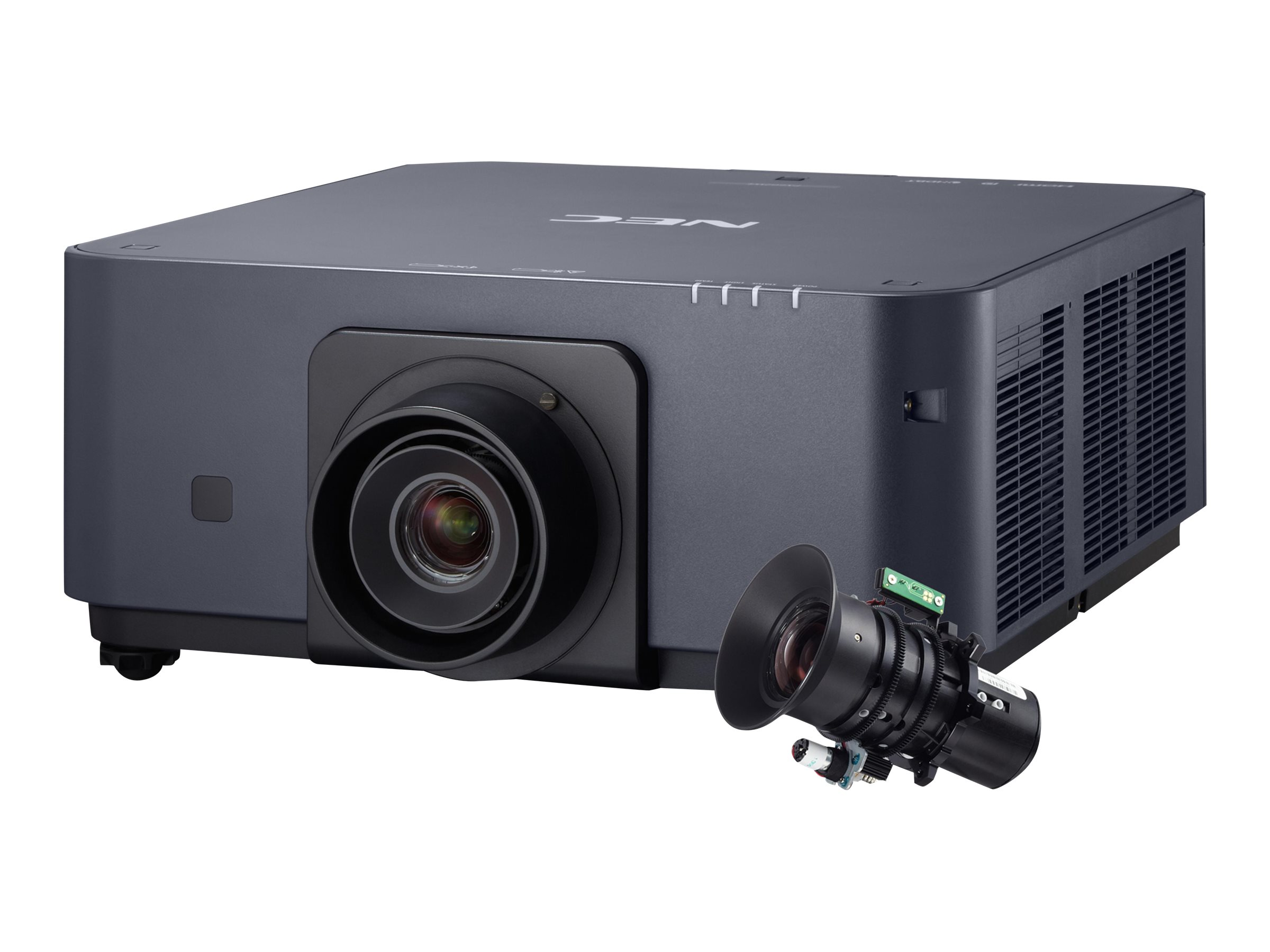NEC PX602UL WUXGA DLP Projector, 6000 Lumens, Black with Zoom Lens