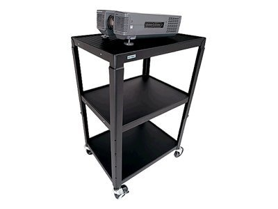 Bretford Manufacturing Adjustable AV Cart, Quartz, A2642E-QZ, 9098868, Computer Carts