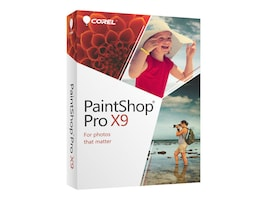 Corel PaintShop Pro X9 - English, PSPX9ENMBAM, 33123883, Software - Illustration & Utilities