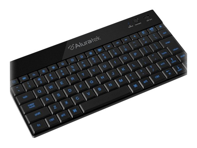 Aluratek BT Backlit LED Keyboard for Tablets, iPads, Smartphones